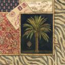 Пальма и восточные узоры