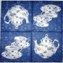 чай на двоих. синий на синем узоре