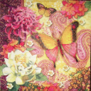 Прекрасная бабочка и цветы