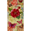 цветок, бабочки и марки