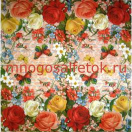 Розы, бабочки  и цветы