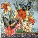 цветы и бабочки с узором