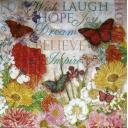 Бабочки и нежные цветы