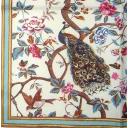 Павлин, птица и цветы