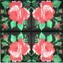 четыре розы на черном