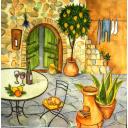 Вино и кошка во дворе