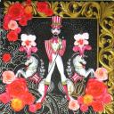 Цирк на черном фоне